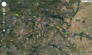 Stages from Zamora to Verin: 213km